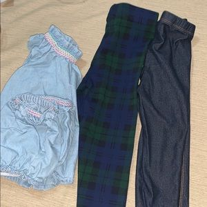 Kids girls 18-24 months shirt and leggings